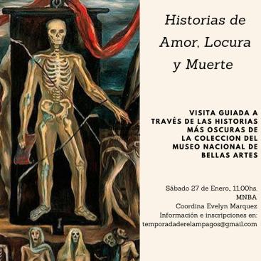 Historias de Amor, Locura y Muerte. flyer